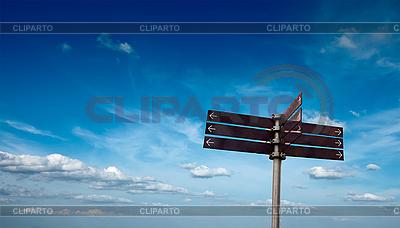 Leerer Wegweiser | Foto mit hoher Auflösung |ID 3015699