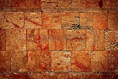 Steinmauer der antiken Maya-Pyramide in Uxmal, Mexiko | Foto mit hoher Auflösung |ID 3015724