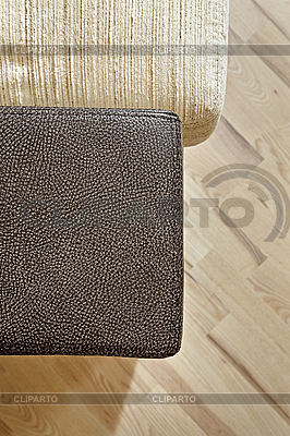 Details of leather sofa headboard on Wooden floor | High resolution stock photo |ID 3016748
