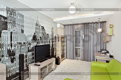 Living-room with print on the wall | High resolution stock photo |ID 3016771
