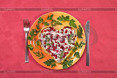 Valentinstag-Salat mit Rinderzunge | Foto mit hoher Auflösung |ID 3016916