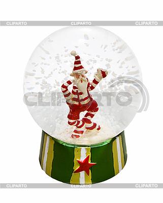 透明玻璃球与圣诞老人和雪里面 | 高分辨率照片 |ID 3016952