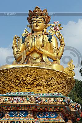 Giant rzeźba złota Śiwy w Katmandu, Nepal | Foto stockowe wysokiej rozdzielczości |ID 3016962