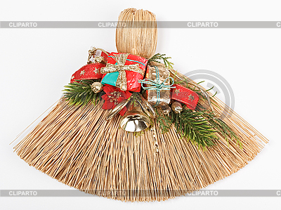 Weihnachtsbesen auf Weiß | Foto mit hoher Auflösung |ID 3017033