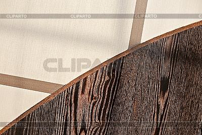Grenze zwischen Fliesen- und Holzböden | Foto mit hoher Auflösung |ID 3017086