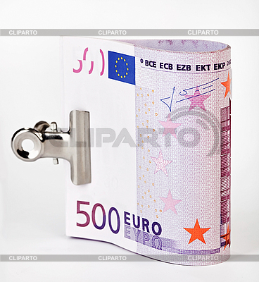 500 Euro banknotes fasten with paper clip  | High resolution stock photo |ID 3017150