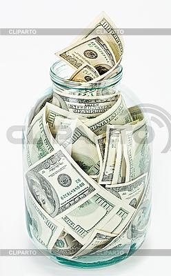 Viele $100-Banknoten im Glas | Foto mit hoher Auflösung |ID 3017176