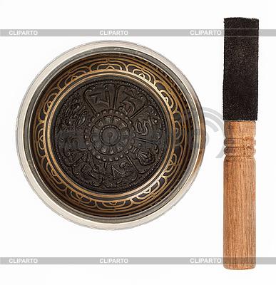 Nepal singing bowl on white  | High resolution stock photo |ID 3017188