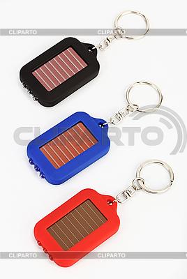 Trzy małe cacko latarka LED na białym tle | Foto stockowe wysokiej rozdzielczości |ID 3017191