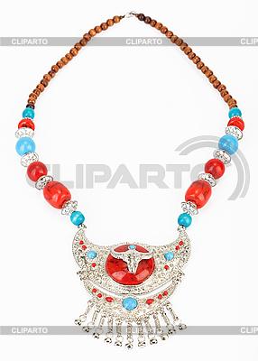 Tibetische Halskette mit Jak-Symbol | Foto mit hoher Auflösung |ID 3017195