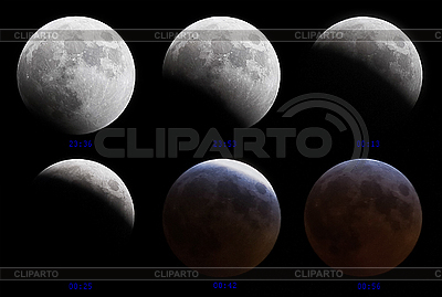 Lunar (moon) eclipse 3-4 March 2007 | High resolution stock photo |ID 3017209