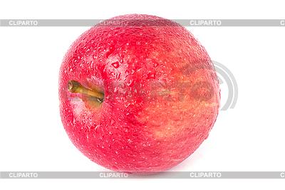 Dojrzałe czerwone jabłko z kropli wody | Foto stockowe wysokiej rozdzielczości |ID 3017317