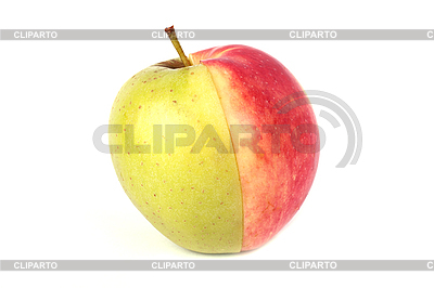 Half czerwony i pół zielone jabłko | Foto stockowe wysokiej rozdzielczości |ID 3017503