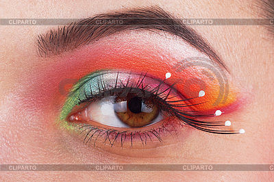 Beautiful, fantastic make up girl eye | High resolution stock photo |ID 3017632