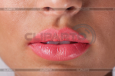 Sexy woman lips with pink make up | High resolution stock photo |ID 3017638