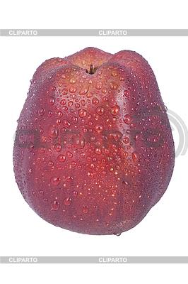 Czerwone jabłko z kropli wody | Foto stockowe wysokiej rozdzielczości |ID 3017699