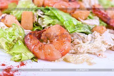 Shrimp tiger salad | High resolution stock photo |ID 3019177