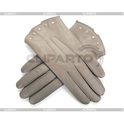 Grey female leather gloves | High resolution stock photo |ID 3019378