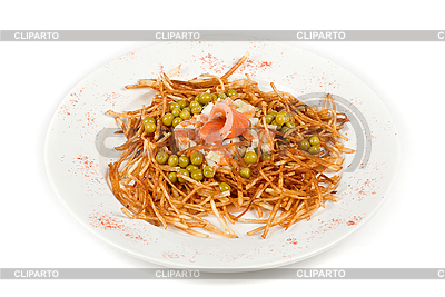 Russian salad with salmon fish closeup | High resolution stock photo |ID 3019611