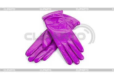 Lila weibliche Lederhandschuhe | Foto mit hoher Auflösung |ID 3019617