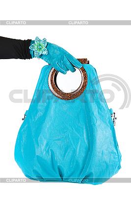 蓝色女手包 | 高分辨率照片 |ID 3019762