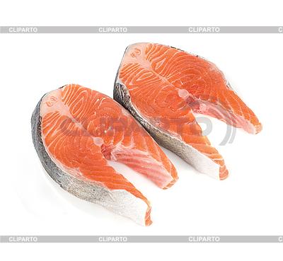 Стейк из красной рыбы | Фото большого размера |ID 3019782