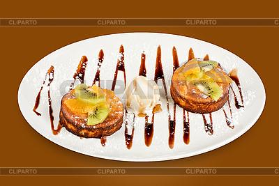Tasty dessert with ice cream   High resolution stock photo  ID 3020157