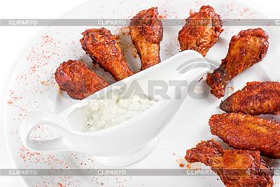 Hähnchen gegrillte Flügel | Foto mit hoher Auflösung |ID 3020206