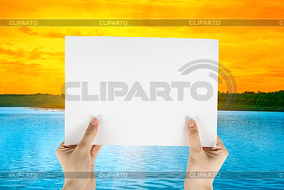 White paper at beauty sunset   High resolution stock photo  ID 3020468