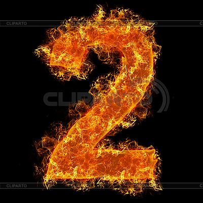 Feuer-Ziffer 2 | Foto mit hoher Auflösung |ID 3020623