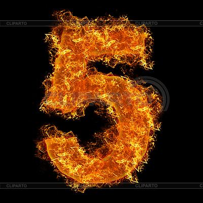 Feuer-Ziffer 5 | Foto mit hoher Auflösung |ID 3020627