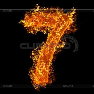 화재 숫자 7 | 높은 해상도 사진 |ID 3020631