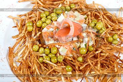 Salat mit Lachs | Foto mit hoher Auflösung |ID 3020791