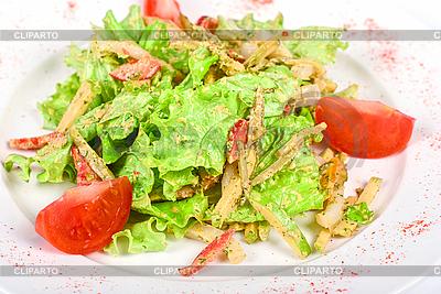 Salat vom Tintenfisch mit gebratenem Hühnerfleisch | Foto mit hoher Auflösung |ID 3020797