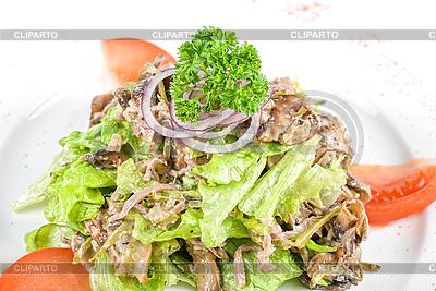 Salat mit Pilzen | Foto mit hoher Auflösung |ID 3020818