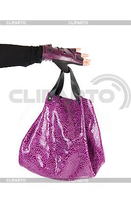 Purple women bag at hand | High resolution stock photo |ID 3020918