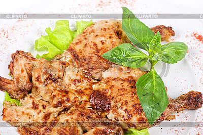 Pieczone mięso z kurczaka kukurydza | Foto stockowe wysokiej rozdzielczości |ID 3020978