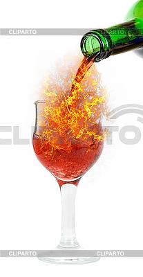 Rotwein und Feuer | Foto mit hoher Auflösung |ID 3021267