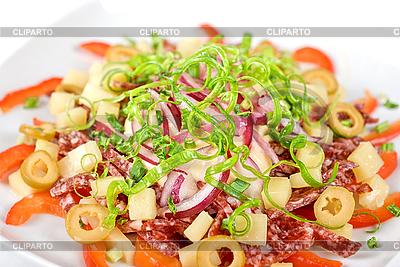 Salami salad   High resolution stock photo  ID 3021291
