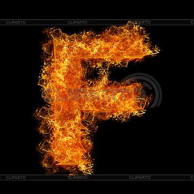 Огненная буквица F | Фото большого размера |ID 3021416