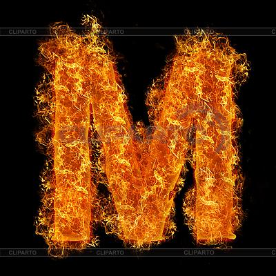 화재 문자 M | 높은 해상도 사진 |ID 3021423