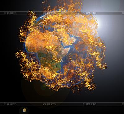 Planeta Ziemia w ogniu | Foto stockowe wysokiej rozdzielczości |ID 3021441