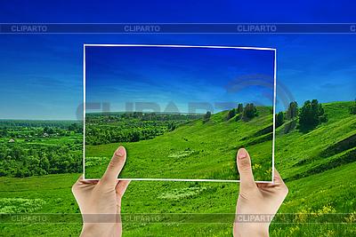 Zdjęcie z zielonym polu | Foto stockowe wysokiej rozdzielczości |ID 3021456