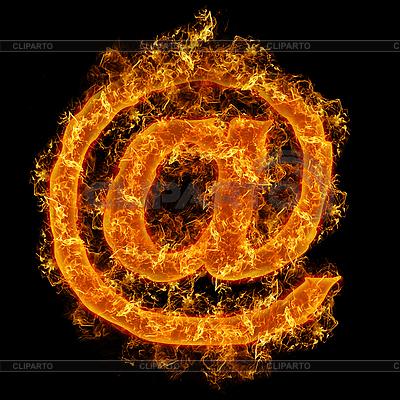 Email-Feuerzeichen | Foto mit hoher Auflösung |ID 3021457