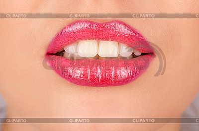 Schöne weibliche Lippen | Foto mit hoher Auflösung |ID 3027063