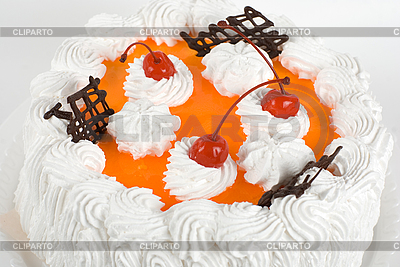Cream cherry cake | High resolution stock photo |ID 3027157