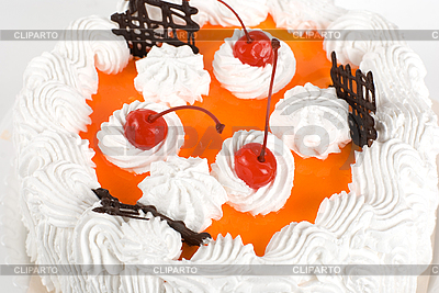 Кремовый вишневый торт | Фото большого размера |ID 3027159