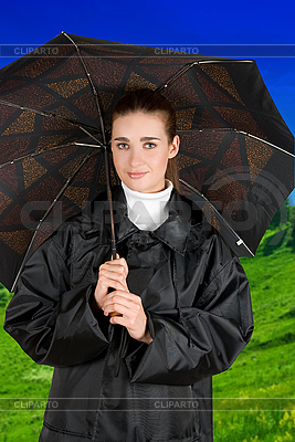 Woman under umbrella | High resolution stock photo |ID 3027277