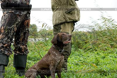 Jäger mit Hund | Foto mit hoher Auflösung |ID 3027524