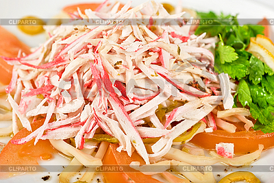Salad of crab meat | High resolution stock photo |ID 3027629